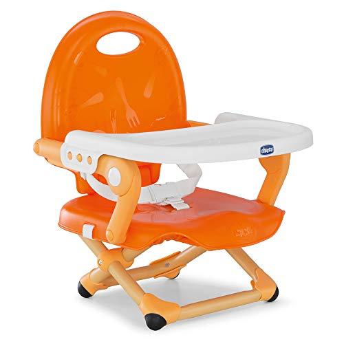 Chicco Pocket Snack - Elevador asiento de silla regulable en 3 alturas para bebés, ligero 2 kg, colornaranja (Mandarino)