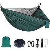 Hamacas colgantes exterior, Sendowtek hamaca de viaje para camping, mosquetón en forma de D,Playa para mochileros al aire libre, senderismo, camping