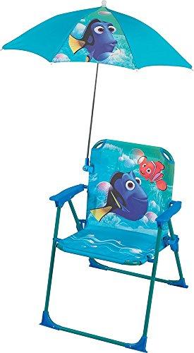 Fun House Dory - Silla Plegable con sombrilla para niños, Acero, Azul, 38 x 8 x 50 cm