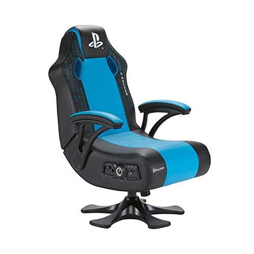 X Rocker Legend 2.1-Silla para Juegos, Color Negro y Azul, Normal