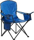 Amazon Basics - Silla de camping con enfriador, Azul (Acolchada, XL)